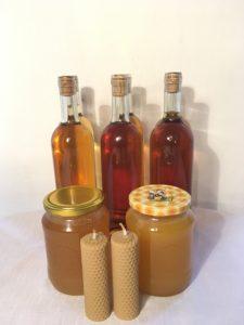 medy, svíčky, medovina